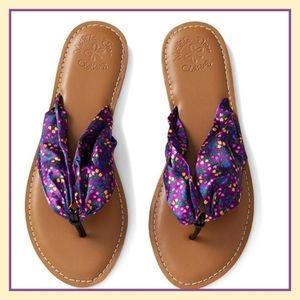 Matilda Jane Purple Floral Toes In Sandals